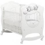 детская кроватка Mibb Moon белая/серебряная