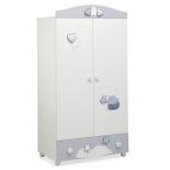 мебель компьютерная Mibb Stella, шкаф для детской комнаты, бело-синий
