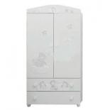 мебель компьютерная Mibb Armadio Fantasia Bianco Argen, шкаф для детской комнаты