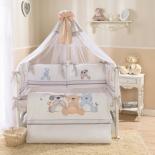 аксессуар к детской кроватке Perina Комплект 7 предметов Венеция Три друга белый