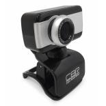 web-камера CBR CW 832M, чёрная с серебристой вставкой