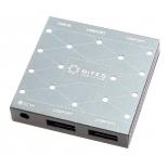 USB-концентратор 5bites активный, на четыре порта USB 3.0 (HB34-302PGY), серебристый