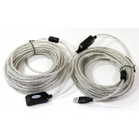кабель (шнур) AOpen USB2.0 A(f)-A(m), 20 метров, c промежуточным усилителем сигнала (ACU823-20M)