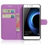 чехол для смартфона Book Case New для Huawei Honor 8 (с визитницей), фиолетовый