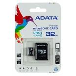 карта памяти Флеш карта MicroSDHC 32Gb class10 A-DATA UHS-1 +адаптер