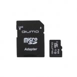 карта памяти Qumo microSDXC Class 10 UHS Class 1 64GB + SD adapter