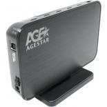 корпус для жесткого диска AgeStar 3UB3A8-6G (внешний, SATA - USB3.0), чёрный
