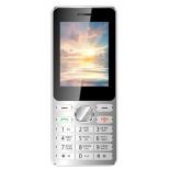 сотовый телефон Vertex D508, серебристо-синий