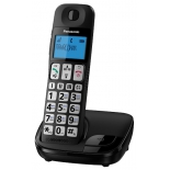 радиотелефон Panasonic KX-TGE110RUB,  черный