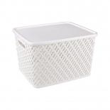 контейнер для хранения Альтернатива Плетенка М3591, белая