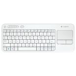 клавиатура Logitech Wireless K400 Touch Keyboard   белая с тачпадом