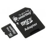 карта памяти SmartBuy microSDXC Class 4 64GB (с адаптером SD)