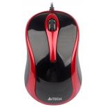 мышка A4Tech N-360-2 USB, красно-черная