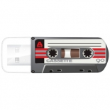 usb-флешка Verbatim Store 'n' Go Mini Cassette Edition 32GB, черная