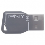 usb-флешка PNY Key Attache 64GB, серая