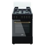 плита Simfer F56GL42001, черная