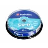 Оптический диск CD-R Verbatim  700МБ 52x Cake Box (10шт)