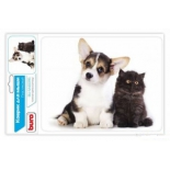 коврик для мышки Buro BU-M40095 (рисунок/котёнок и щенок )