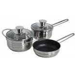 набор посуды для готовки Regent  Linea BIMBO vitro 93-BIMv-10, (5 предметов)