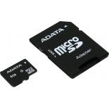карта памяти Adata microSDHC Class 4 4GB (с адаптером)