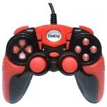 геймпад Dialog GP-A15, красно-черный