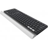 клавиатура Logitech Wireless K780, серебристо-чёрная