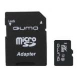 карта памяти Qumo microSDXC Class 10 UHS Class 1 128GB (с адаптером)
