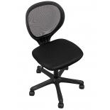 мебель компьютерная Кресло офисное COLLEGE H-2408F-2 (ткань, сетчатый акрил, чёрное)