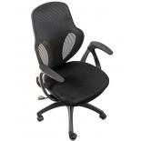 мебель компьютерная Кресло офисное COLLEGE H-8880F (ткань, сетчатый акрил, чёрное)
