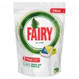 средство для мытья посуды Fairy Original All In One, Лимон, 48 шт (для посудомоечных машин)
