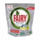 средство для мытья посуды Fairy Platinum, Лимон, 27 шт (для посудомоечных машин)