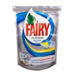 средство для мытья посуды Fairy Platinum, Лимон 18 шт (для посудомоечных машин)