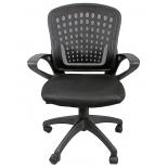 мебель компьютерная Кресло офисное COLLEGE HLC-0472 (ткань, сетчатый акрил, чёрное)