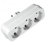 разветвитель электропитаня Uniel S-GES3-16P (3 розетки, заземление)