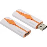 usb-флешка SmartBuy Comet 8GB, белая с оранжевым