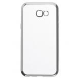 чехол для смартфона SkinBox 4People для Samsung Galaxy A7 2017 (T-S-SGA72017-008), тёмно-серебристый