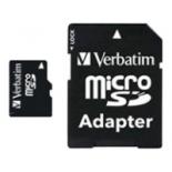 карта памяти MicroSDHC 16Gb class10 Verbatim (с SD адаптером)