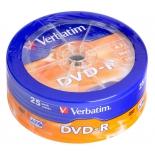 Оптический диск Verbatim DVD-R 4,7 Gb, 16x Cake Box (25шт)