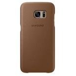 чехол для смартфона Samsung для Galaxy S7 edge Leather Cover (EF-VG935LDEGRU), коричневый