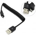 кабель / переходник для телефона Espada EMCUSBM-USBAM1M, черный
