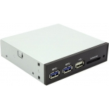 устройство для чтения карт памяти ST-Lab E-110 (MOLEX/SATA/USB3 — USB/SD/MS/MMC), чёрный