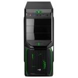 корпус AeroCool V3X Advance Evil Green Edition (600 Вт), черный