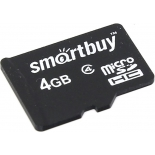карта памяти SmartBuy microSDHC (4 Gb, Class 4)