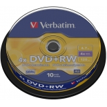 оптический диск DVD-RW Verbatim 4.7 Gb, 4x, Cake Box (10шт)