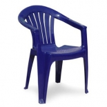 кресло садовое Визан пластиковое Классик-2 синее