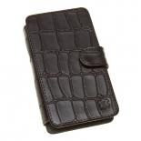 чехол для смартфона Time универсальный, 4.3 - 4.5'', стикер, кожа, коричневый крокодил