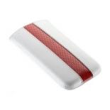 чехол для смартфона Time с ремешком, комбинированный, размер 14 (62х121х11 мм), искусственная кожа, белый с красным