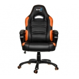 игровое компьютерное кресло Aerocool AC80C-BO, черно-оранжевое