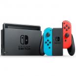 игровая приставка Nintendo Switch, неоновый красный / неоновый синий