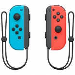 игровой контроллер специальный комплект Nintendo Switch Joy-Con (парные контроллеры), неоновый красный и неоновый синий